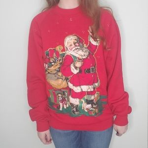 Festive 80s-90s holiday sweater.